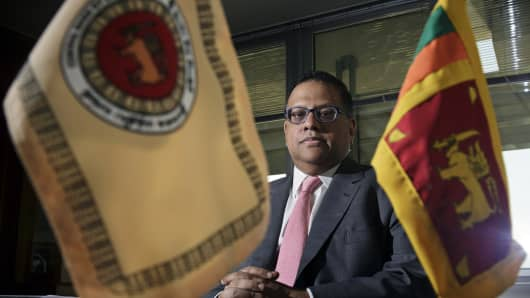 Arjuna Mahendran, governor of the Central Bank of Sri Lanka.